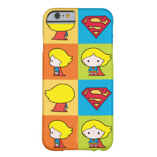 Coque Barely There iPhone 6 Revirement de caractère de Chibi Supergirl