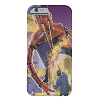 Coque Barely There iPhone 6 Robot vintage de la science-fiction avec les yeux