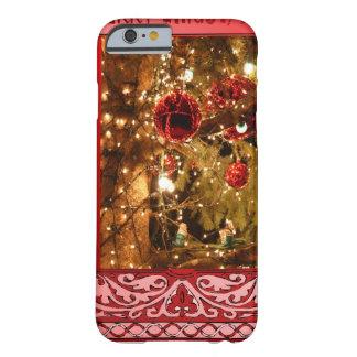 Coque Barely There iPhone 6 Rose de babioles de Noël