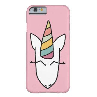 Coque Barely There iPhone 6 Rose de couverture de cas de téléphone de licorne