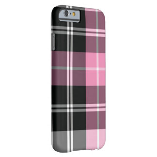 Coque Barely There iPhone 6 Rose de plaid