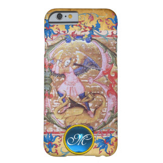 Coque Barely There iPhone 6 St Michael l'antiquité de monogramme d'Arkhangel