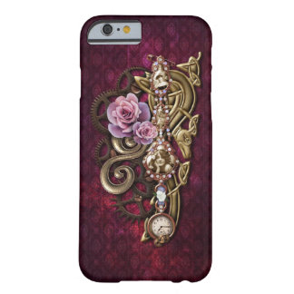 Coque Barely There iPhone 6 Steampunk orné de bijoux Girly floral vintage