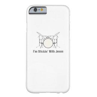 Coque Barely There iPhone 6 Stickin avec le joueur chrétien de tambour de