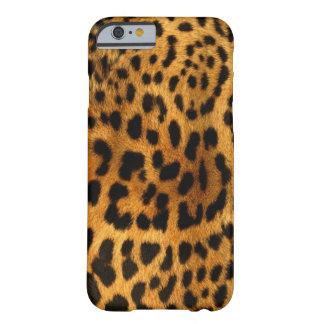 Coque Barely There iPhone 6 Texture authentique de fourrure de léopard