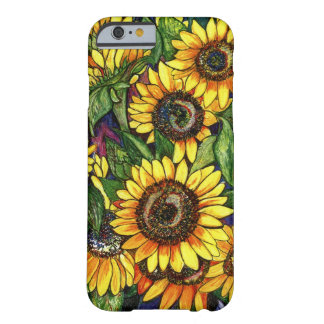 Coque Barely There iPhone 6 Tournesols