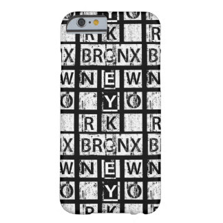 Coque Barely There iPhone 6 Typographie grunge de Bronx New York |