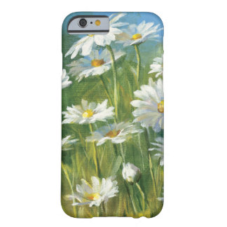 Coque Barely There iPhone 6 Un champ des marguerites blanches