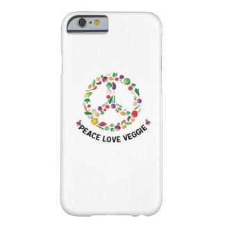 Coque Barely There iPhone 6 Végétalien végétarien végétal de signe de paix