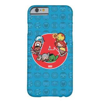 Coque Barely There iPhone 6 Vengeurs de Kawaii à l'intérieur d'Un-Logo