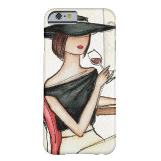 Coque Barely There iPhone 6 Verre de femme et de vin