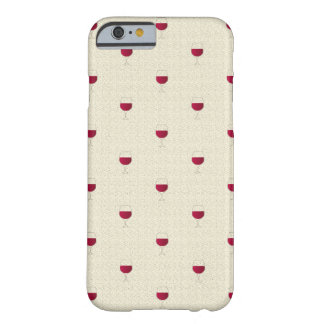 Coque Barely There iPhone 6 Verre de sabot de vin rouge
