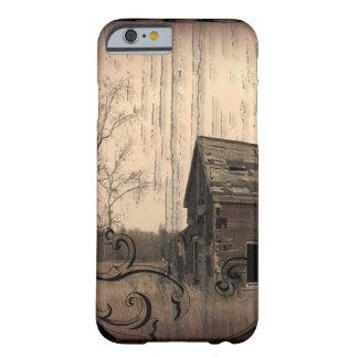 Coque Barely There iPhone 6 vieille grange de ferme primitive de pays