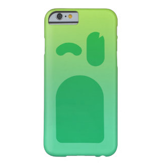 Coque Barely There iPhone 6 Visage vert PhoneCase