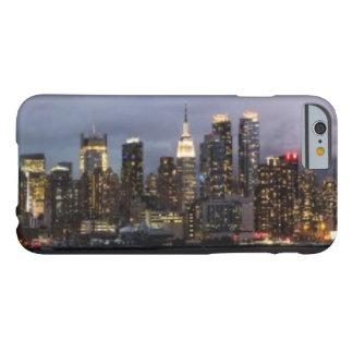 Coque Barely There iPhone 6 Vue panoramique de début de soirée de Manhattan
