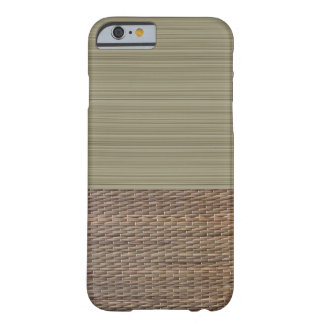 Coque Barely There iPhone 6 Zen d'impression de tatami de rayures de vert