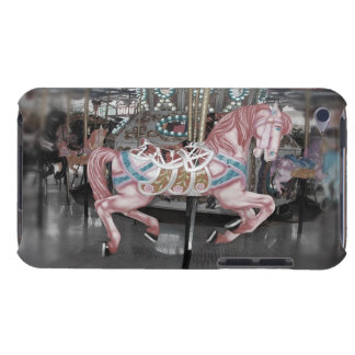 Coque Barely There iPod Cheval rose de carrousel