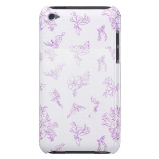 Coque Barely There iPod Chic chic et français minable, vintage, floral,
