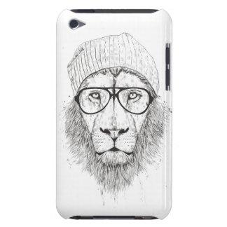 Coque Barely There iPod Lion frais (noir et blanc)