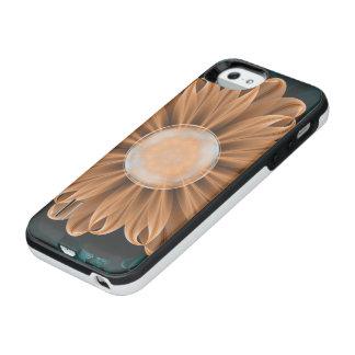 Coque Batterie Pour iPhone SE/5/5s Beau chrysanthème de paradis d'orange et d'Aqua