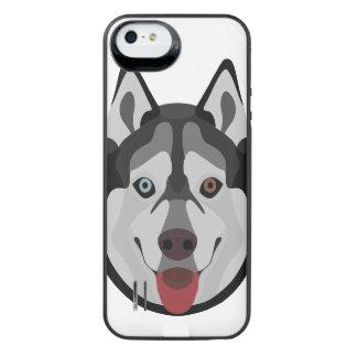 Coque Batterie Pour iPhone SE/5/5s L'illustration poursuit le chien de traîneau