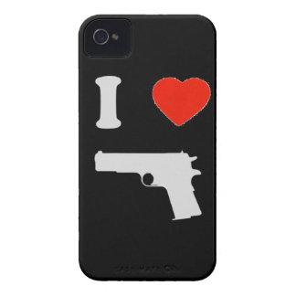 """Coque Blackberry """"I love gun"""" (noir)"""