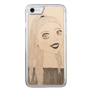 Coque Carved iPhone 8/7 Cas en bois avec plaisir de téléphone