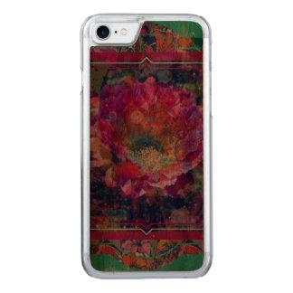 Coque Carved iPhone 8/7 Cas en bois d'iPhone de fleur de l'Arizona, fleur