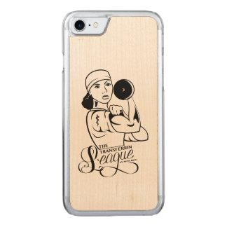 Coque Carved iPhone 8/7 Cheveux bouclés de cas en bois de téléphone de