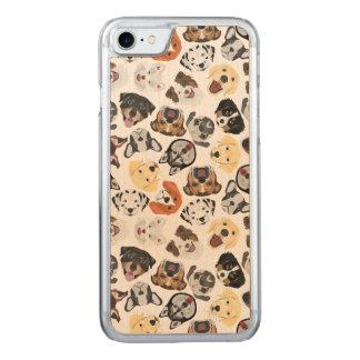 Coque Carved iPhone 8/7 Chiens de motif d'illustration