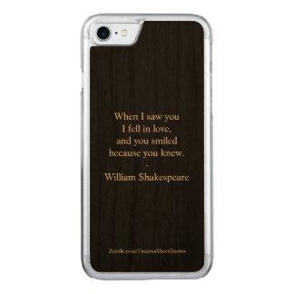 Coque Carved iPhone 8/7 Citation de Shakespeare - j'étais amoureux