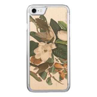 Coque Carved iPhone 8/7 Coucou Noir-affiché du plat 32 d'Audubon