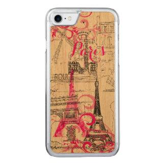 Coque Carved iPhone 8/7 Couleur d'arrière - plan de PixDezines Paris