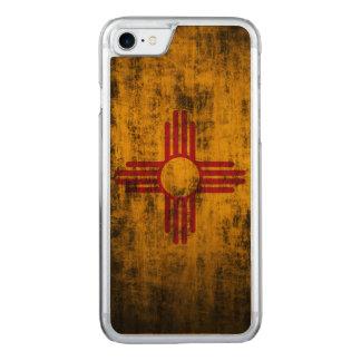 Coque Carved iPhone 8/7 Drapeau grunge vintage d'état du Nouveau Mexique