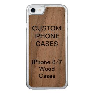 Coque Carved iPhone 8/7 La coutume a personnalisé l'iPhone en bois de noix