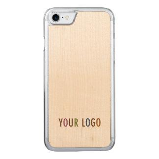 Coque Carved iPhone 8/7 Le volume en bois découpé de logo d'affaires