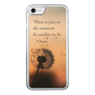 Coque Carved iPhone 8/7 L'homme est citation libre de Voltaire