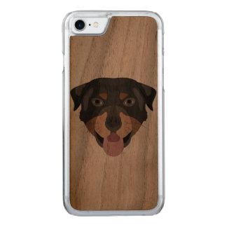 Coque Carved iPhone 8/7 L'illustration poursuit le rottweiler de visage