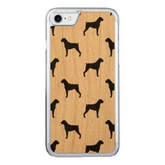Coque Carved iPhone 8/7 Motif de silhouettes de chien de boxeur