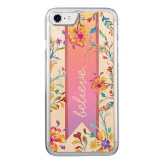 Coque Carved iPhone 8/7 Pastels d'été d'inspiration de fleur sauvage