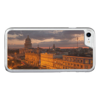 Coque Carved iPhone 8/7 Paysage urbain au coucher du soleil, La Havane,