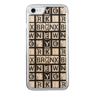 Coque Carved iPhone 8/7 Typographie grunge de Bronx New York |
