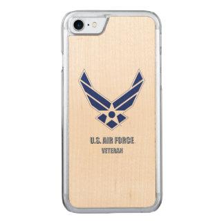 Coque Carved iPhone 8/7 U.S. iPhone de vétéran de l'Armée de l'Air/cas en