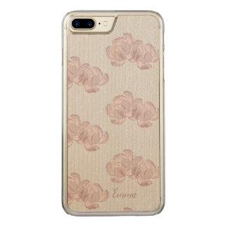 Coque Carved iPhone 8 Plus/7 Plus Beautiful design of peonies.