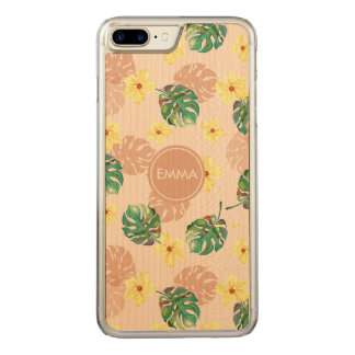 Coque Carved iPhone 8 Plus/7 Plus Beautiful tropical floral design.