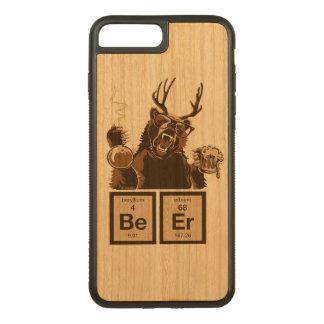 Coque Carved iPhone 8 Plus/7 Plus Bière découverte par ours drôle de chimie