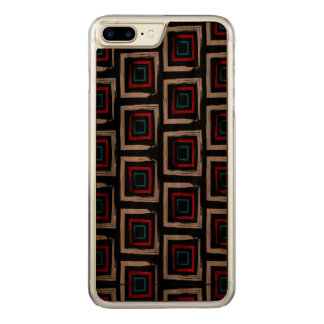 Coque Carved iPhone 8 Plus/7 Plus Caisse en bois d'Apple de noix mince plus carrée