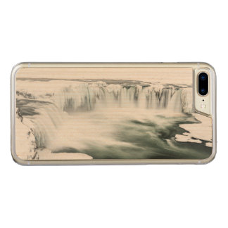 Coque Carved iPhone 8 Plus/7 Plus Cascade de Godafoss, hiver, Islande