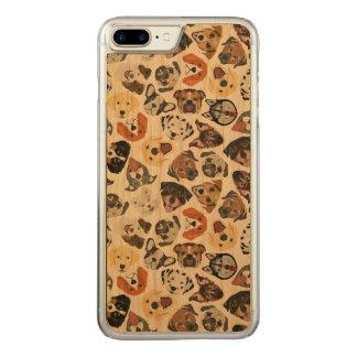 Coque Carved iPhone 8 Plus/7 Plus Chiens domestiques doux de motif d'illustration