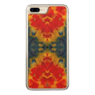 Coque Carved iPhone 8 Plus/7 Plus Conception d'ara d'écarlate de kaléidoscope